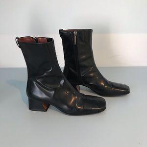 Donald j pliner black leather booties